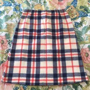 Vintage plaid wool skirt, XS